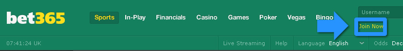 bet365 Join Now