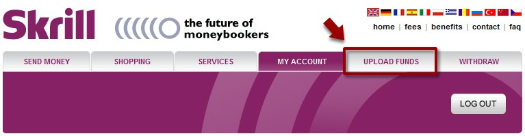 Skrill(Moneybookers) UPLOAD FUNDS