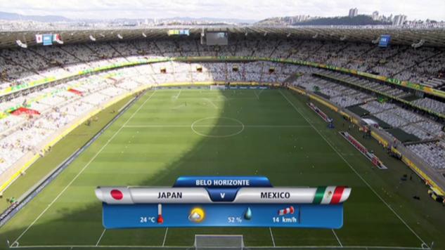 2013 コンフェデ杯 日本対メキシコ