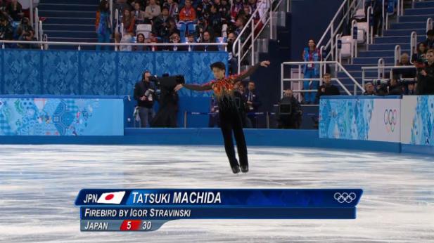 フィギュアスケート団体男子シングルフリー 3位(町田樹)
