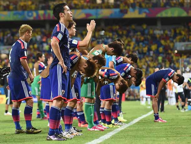 日本W杯敗退写真
