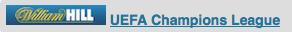 ウィリアムヒル UEFA チャンピオンズリーグ オッズ