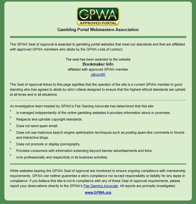 GPWAから授与された認証書