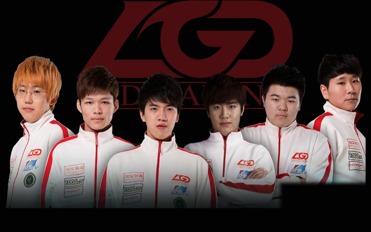 LGD Gamingロスター写真