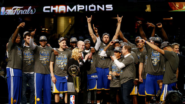 NBA2014-2015ファイナル優勝写真