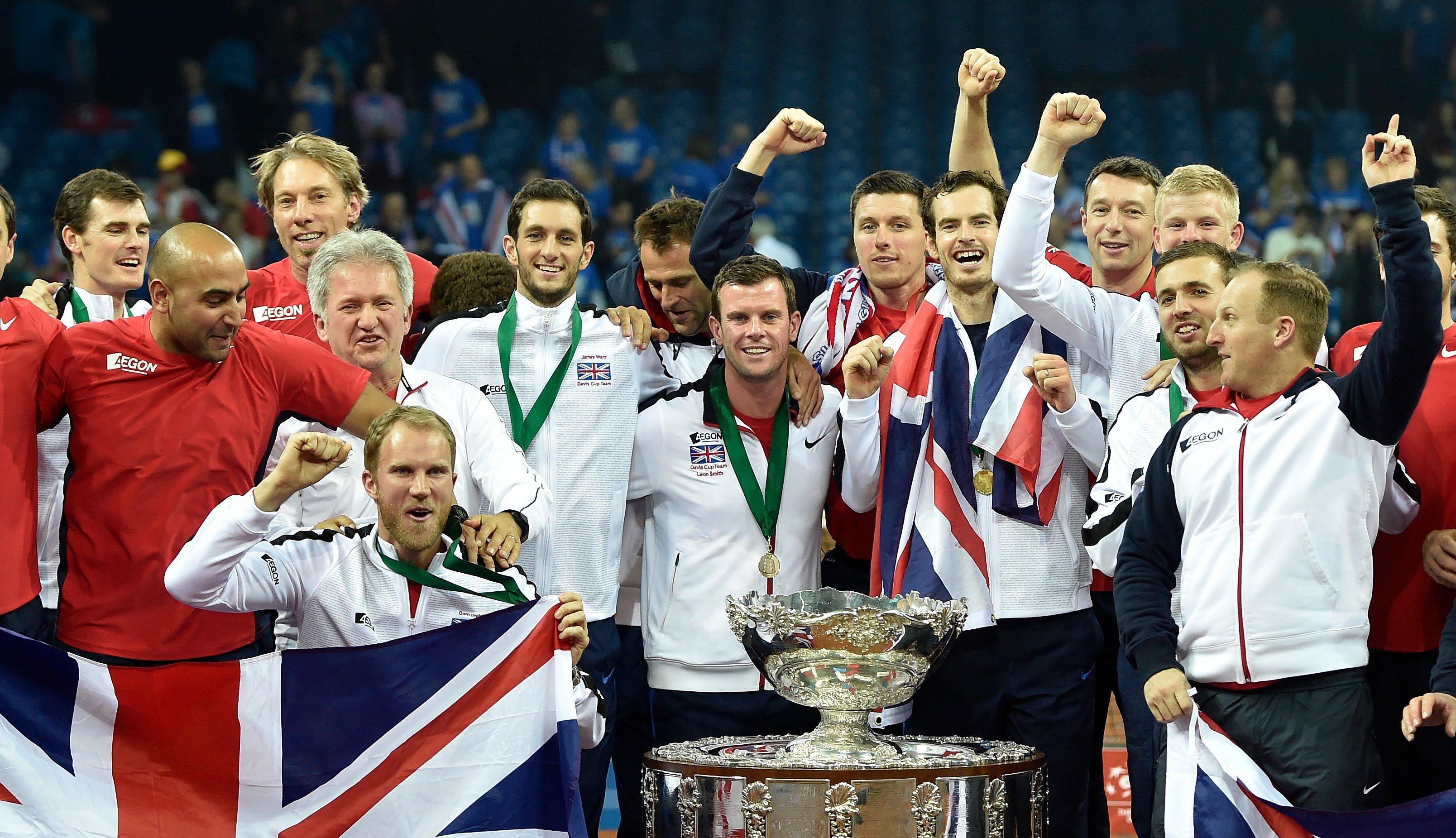 デビスカップ2015優勝写真(イギリス)