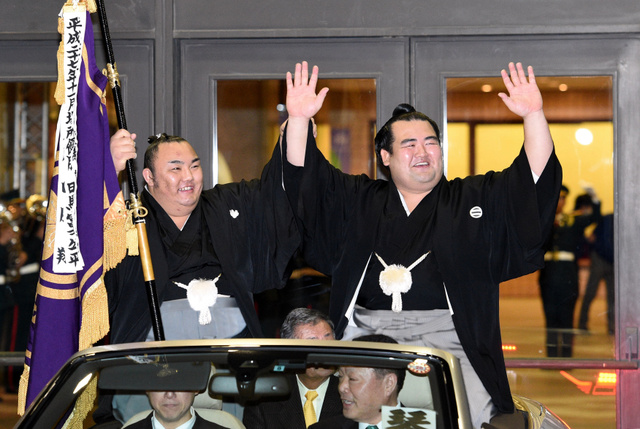大相撲初場所2016優勝写真(琴奨菊)