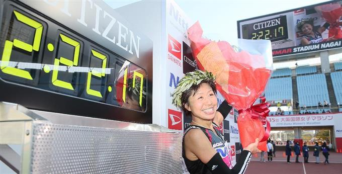 大阪国際女子マラソンで優勝した福士加代子