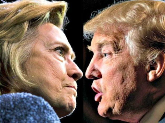 アメリカ大統領選を戦うクリントン氏とトランプ氏