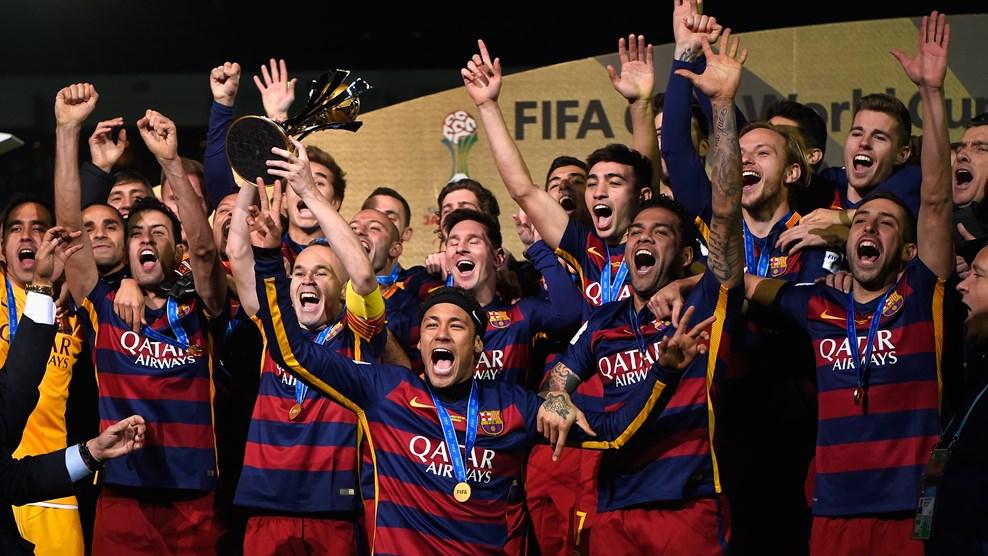 FIFAクラブワールドカップ2015優勝歓喜の瞬間(バルセロナ)