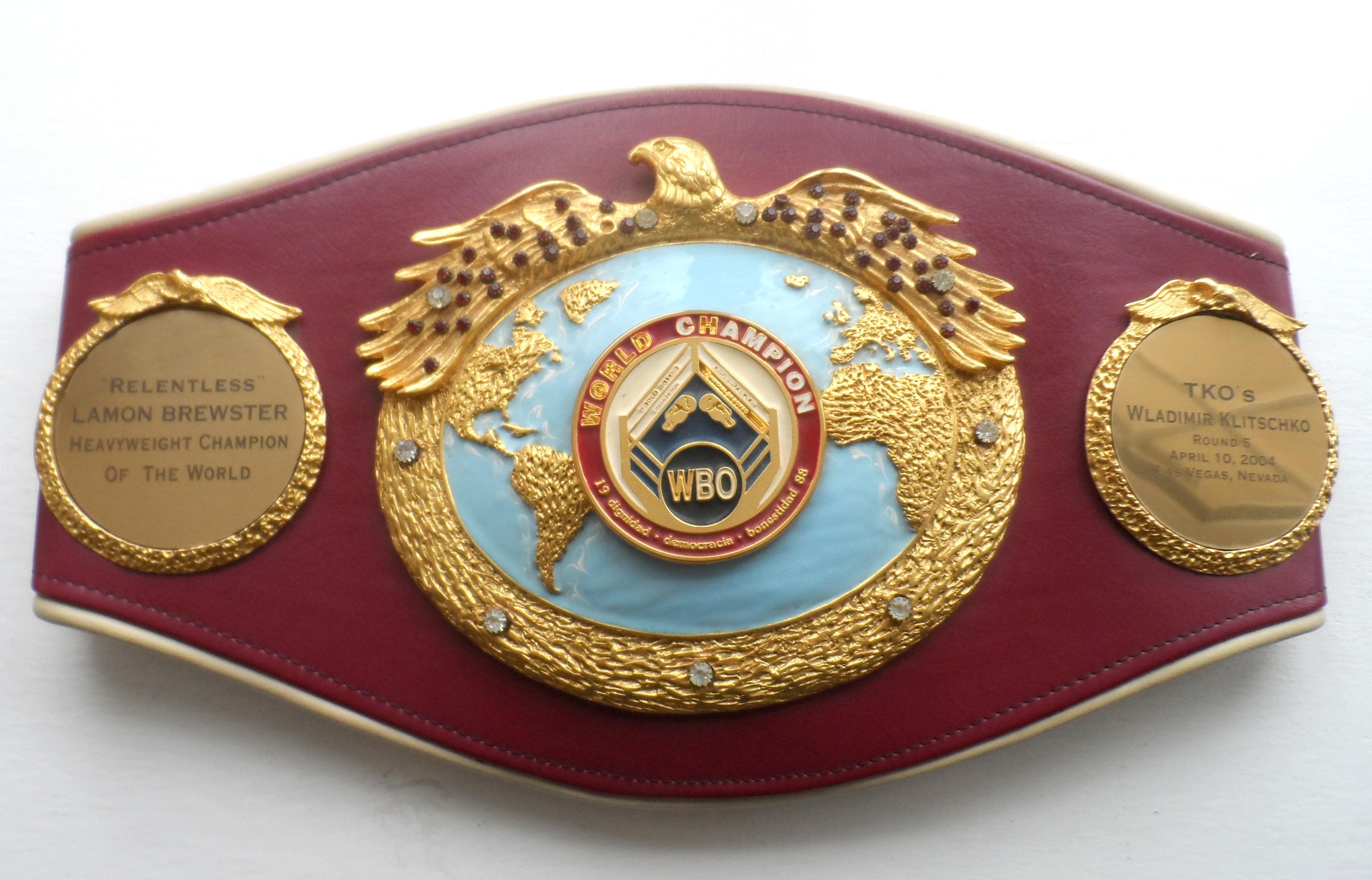 WBOスーパーフライ級チャンピオンベルト