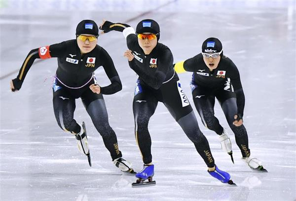 女子団体追い抜き日本チーム
