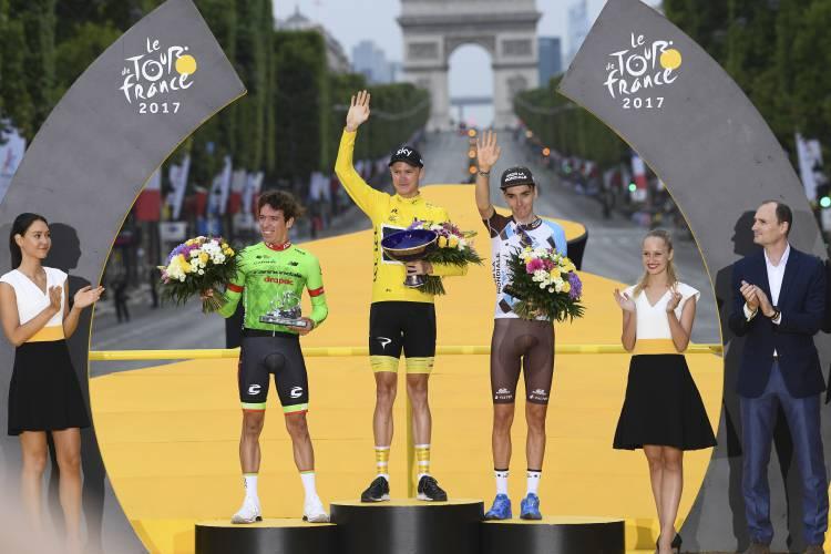 昨年度ツール・ド・フランス表彰式