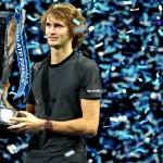 アレクサンダー・ズべレフ(昨年度ATPファイナルズ優勝セレモニー)