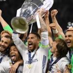Real Madrid Players Celebrating