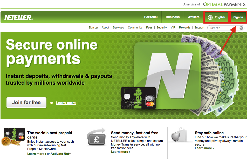 NETELLER Sign In