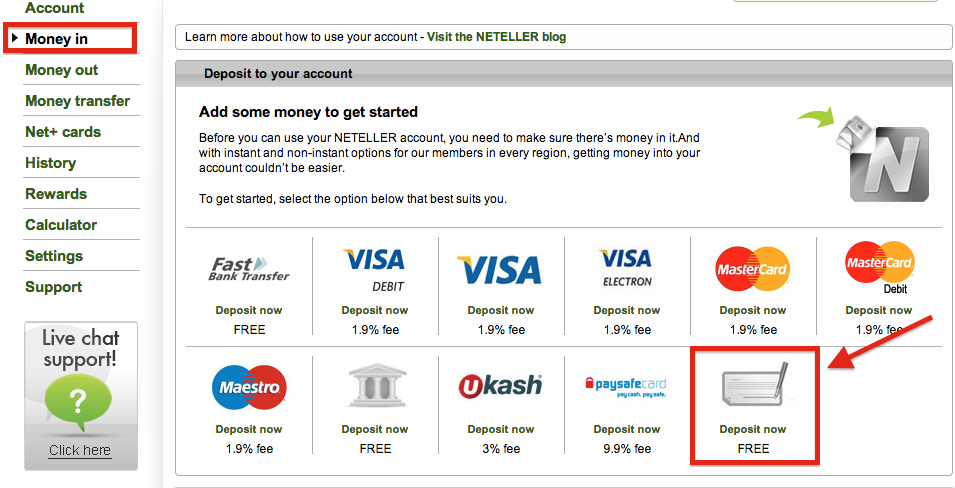 NETELLER Deposit International Bank Transfer