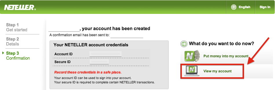 NETELLER Registration