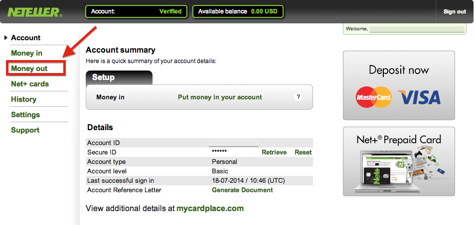 How To Withdraw Money From Neteller
