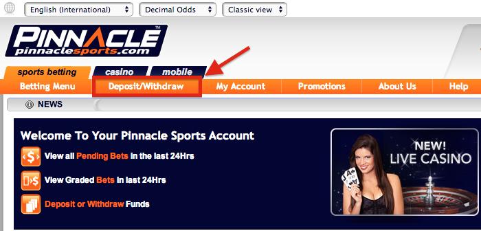 Pinnacle Sports Deposit
