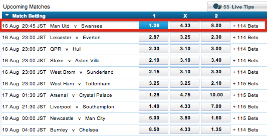 William Hill Match Betting