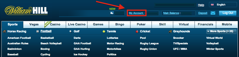 William Hill My Account