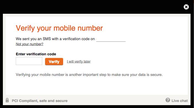 Betsson Registration Verify Mobile Number