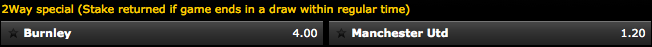 Bwin 2-Way Special (Draw No Bet)