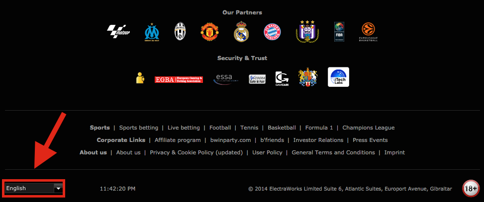 Bwin Registration