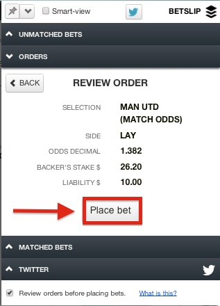 Matchbook Bet Slip Review Order