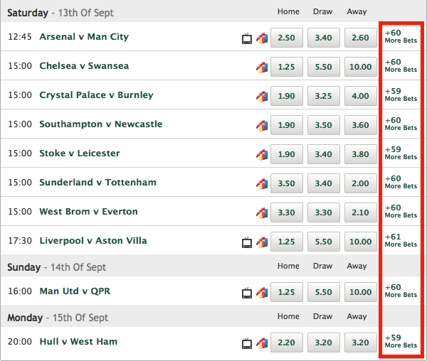 Paddy Power Bet Options