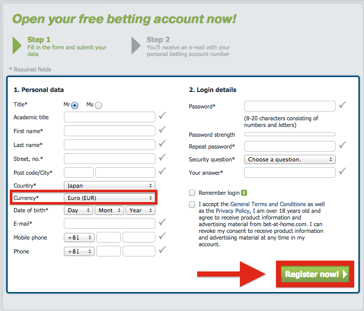 bet-at-home Registration
