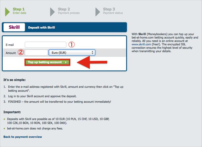 bet-at-home Skrill Deposit