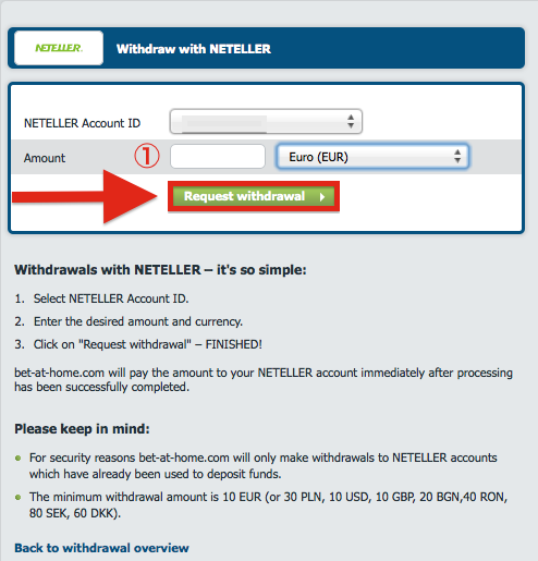 bet-at-home NETELLER Withdrawal