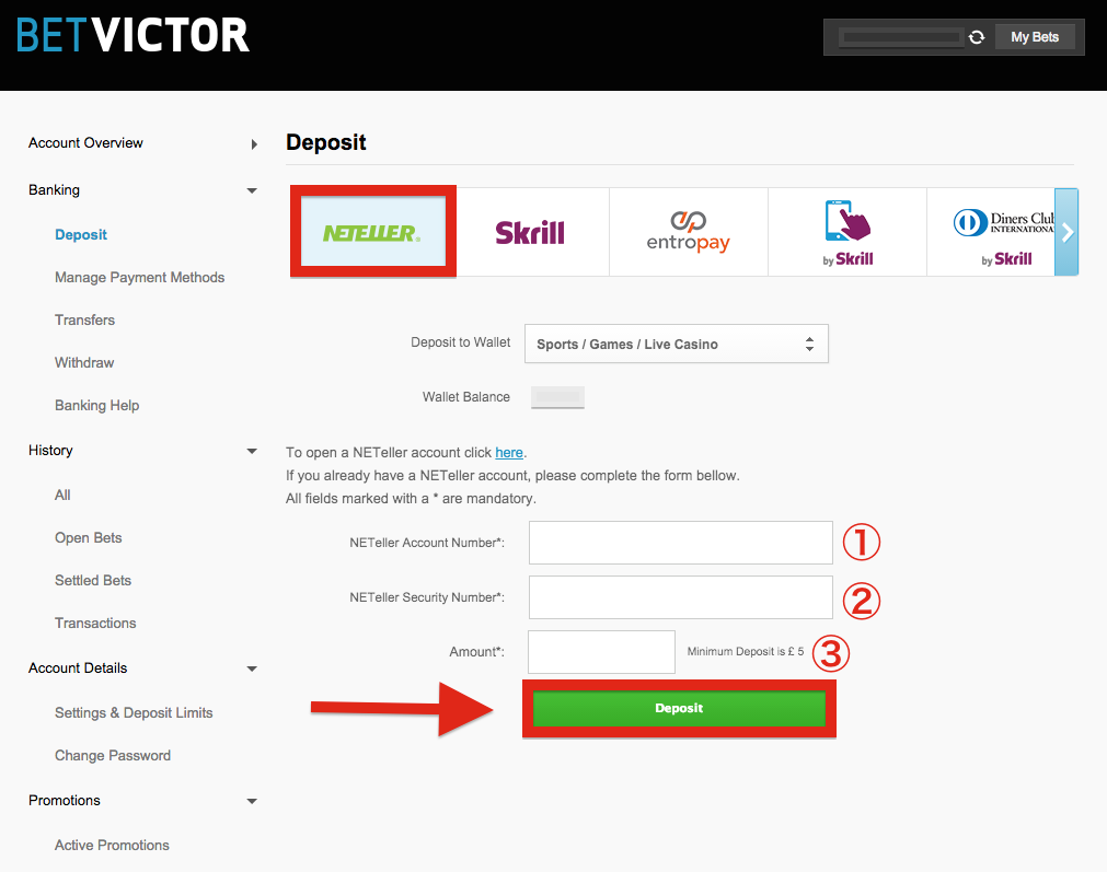 How To Transfer Money From Neteller To Bet Victor