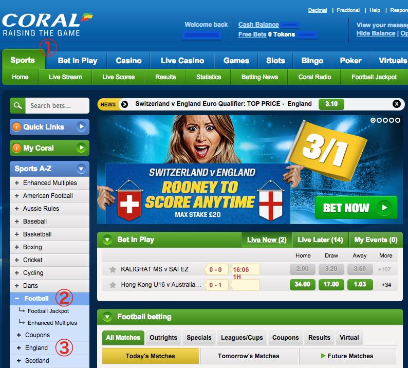 Coral betting slip calculator free virtual sports betting
