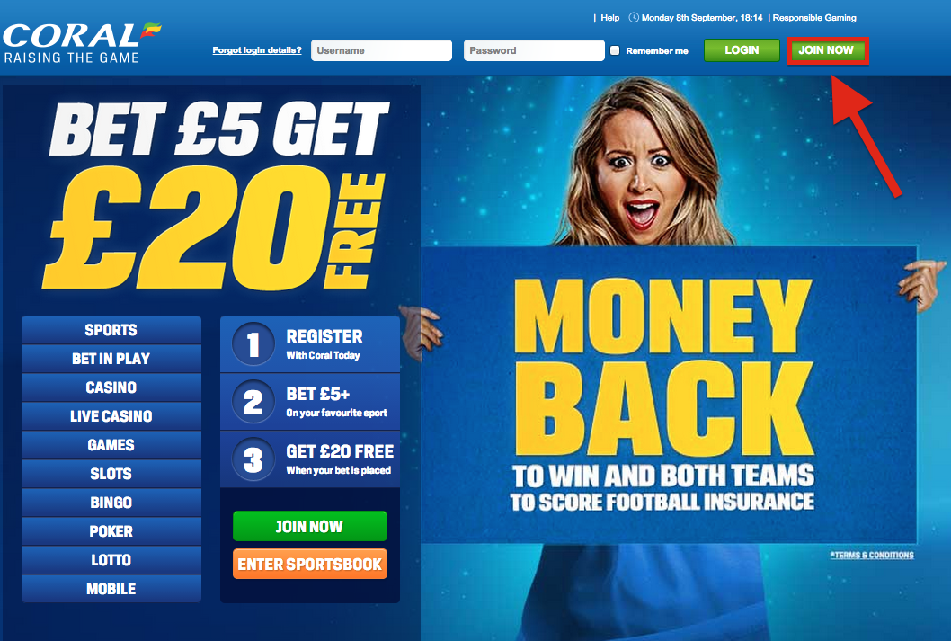 Coral online betting login bet on argentina