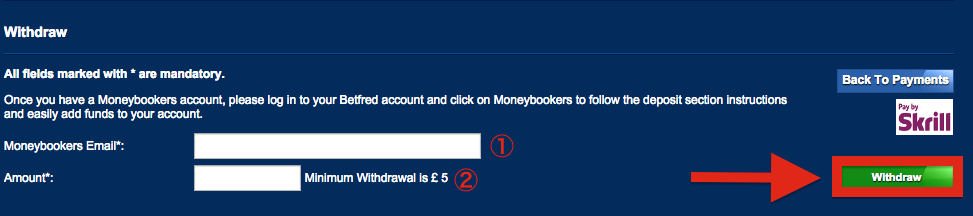 Betfred Skrill Withdraw