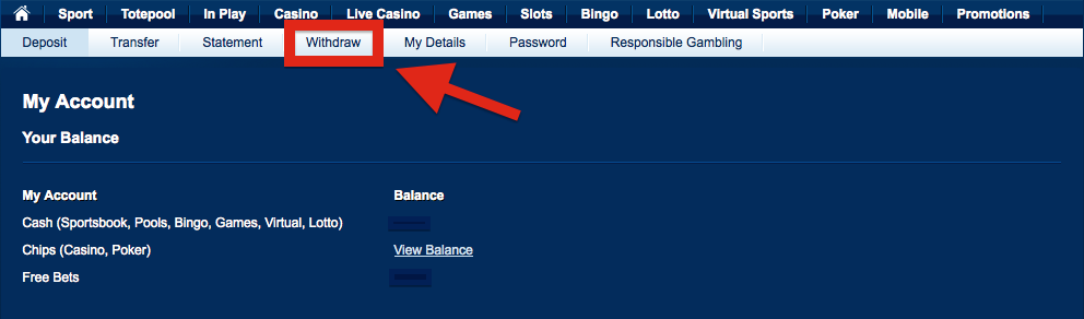 Betfred Withdraw