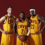 Kevin Love, Kyrie Irving & LeBron James