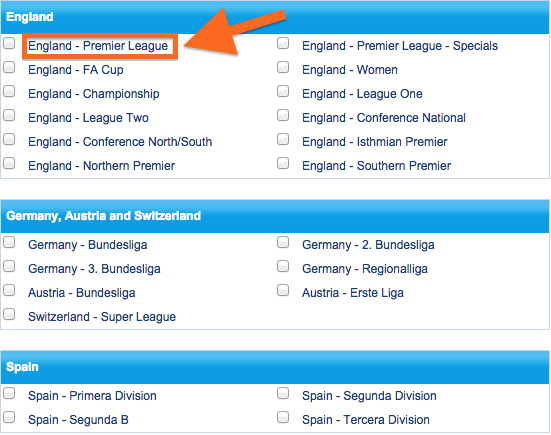 Sportingbet England - Premier League