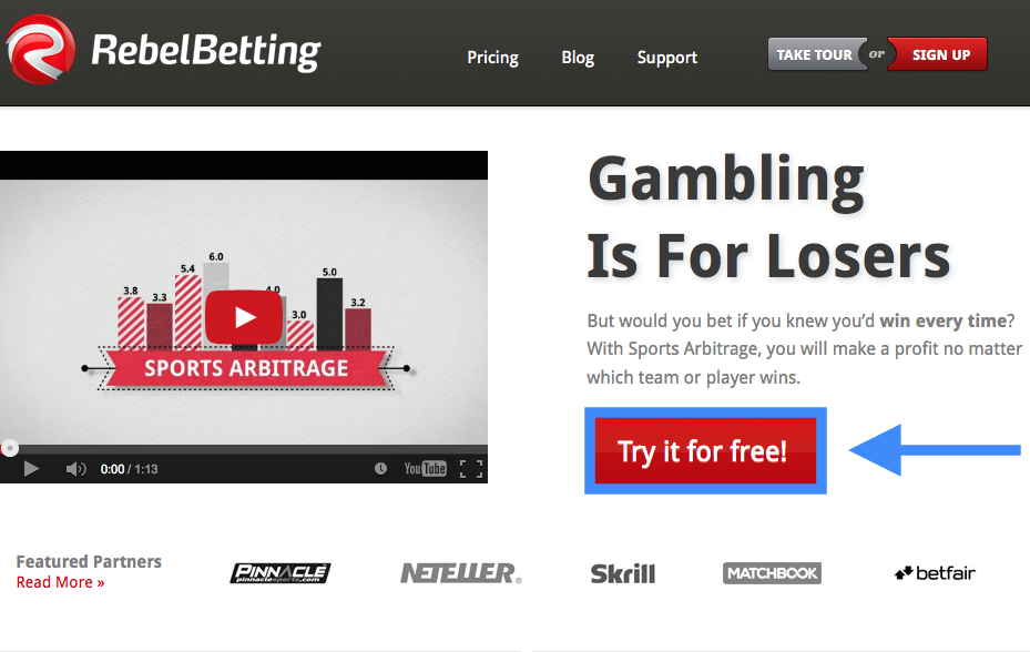 RebelBetting Registration