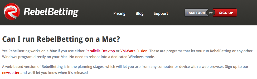 RebelBetting on Mac