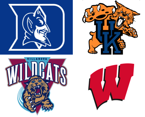 2015 NCAA Men's Basketball Tournament - Number One Seed Logos