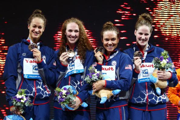 2013 FINA World Championships - USA Women Gold Medal Winners