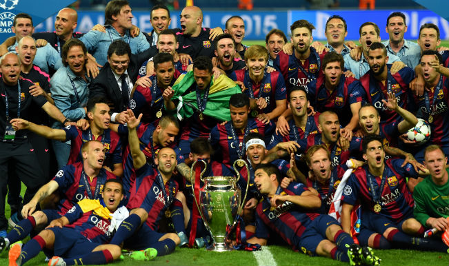 2014-15 UEFA Champions League Winners Barcelona
