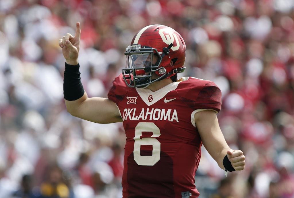 Oklahoma University Quarterback - Baker Mayfield