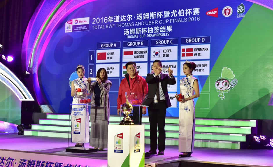 2016 Thomas Cup & Uber Cup Draw