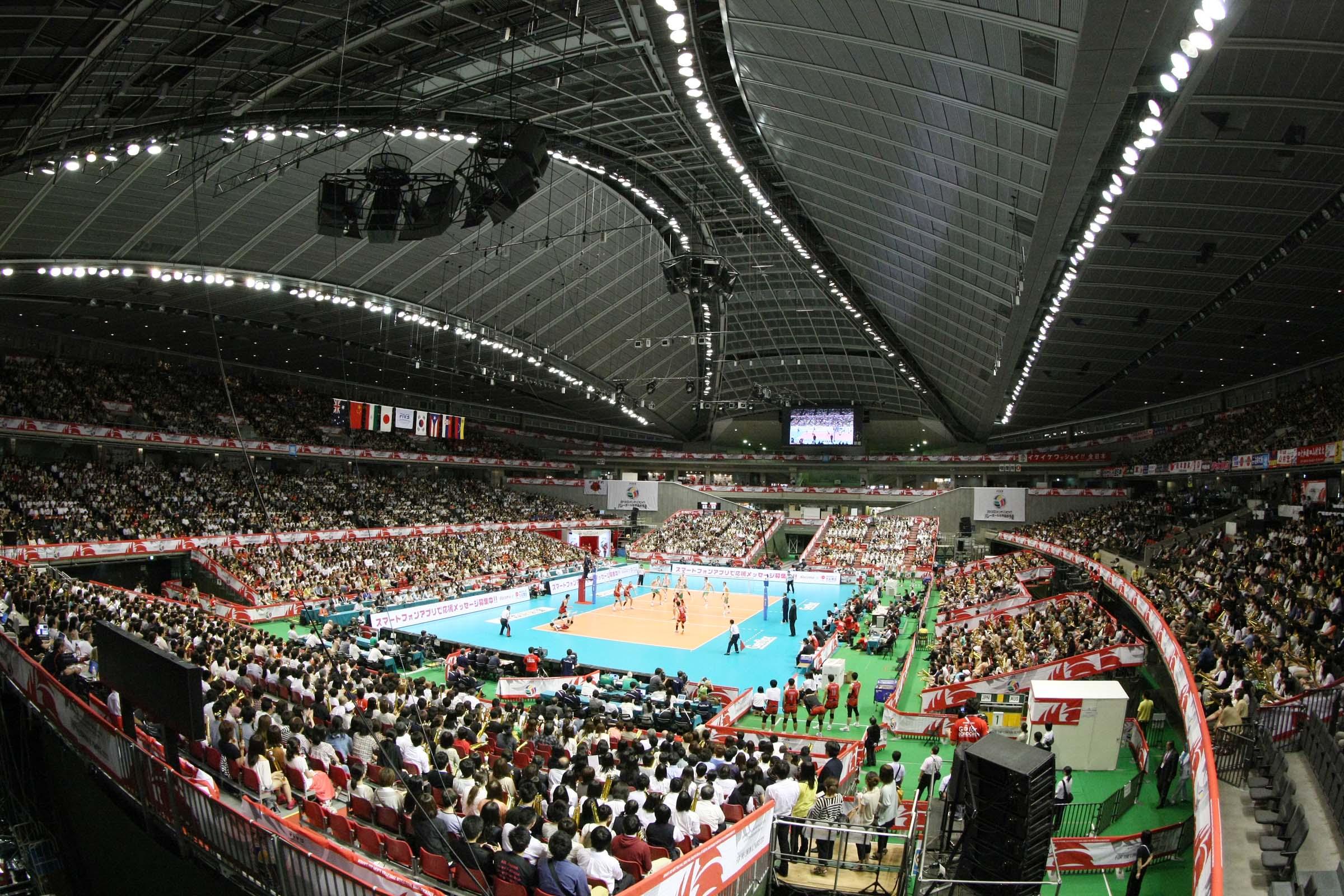 Tokyo Metropolitan Gymnasium Volleyball Scene