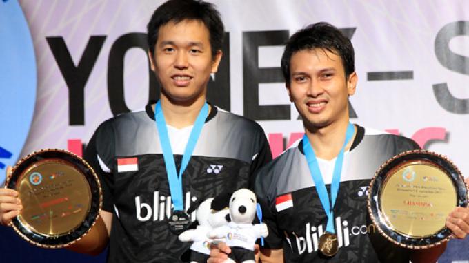 Indonesian Men's Doubles Team Hendra Setiawan & Mohammad Ahsan